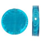Inner Beads Lampwork Twist, Round Flat, 28x28x6mm, : 1.5mm, 100PC/Qese,  Qese