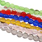 Beads Crystal, Kristal, Monedhë, i tejdukshëm, ngjyra të përziera, 4x2mm, : 1mm, :15Inç, 20Fillesat/Qese,  Qese