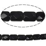 Beads Crystal Rectangle, Kristal, Drejtkëndësh, Reaktiv, 8.50x6.50x4.50mm, : 1mm, :12.6Inç, 20Fillesat/Qese,  Qese