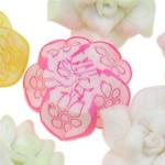Beads polimer balta, Polymer Clay, Lule, asnjë, ngjyra të përziera, 15x9-17x8mm, : 1-2mm, 100PC/Qese,  Qese