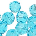 Swarovski Crystal Beads, Round, Akuamarin, 3mm, : 1mm, 50PC/Qese,  Qese