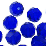 Swarovski Crystal Beads, Round, Dark Sapphire, 4mm, : 1mm, 50PC/Qese,  Qese