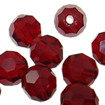 Swarovski Crystal Beads, Round, rubin, 6mm, : 1mm, 50PC/Qese,  Qese