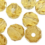 Swarovski Crystal Beads, Round, Topaz, 6mm, : 1mm, 50PC/Qese,  Qese