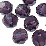 Swarovski Crystal Beads, Round, Ametist, 6mm, : 1mm, 50PC/Qese,  Qese