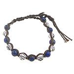 Byzylyk Miqesi, Kristal, with Natyrore lapis lazuli & Cord pambuku & Tunxh, endura, faceted, 8mm, : 9Inç, 10Fillesat/Shumë,  Shumë