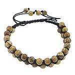 Shamballa Bracelets gur i çmuar, Picture Jasper, with Cord najlon, endura, 6mm, 11mm, :7-11Inç, 10Fillesat/Shumë,  Shumë