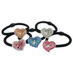 Bisht mbajtës, Alloy zink, Zemër, me diamant i rremë, 24x19x9.50mm, :6Inç, 24PC/Kuti,  Kuti