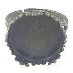 Bezel Brass Ring Base, Tunxh, Ngjyra antike bronz i praruar, asnjë, , nikel çojë \x26amp; kadmium falas, 16.5x16.5x14mm, 17mm, 15x15mm, : 15mm, :6.5, 300PC/Qese,  Qese