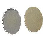 Tunxh Settings Cabochon, Oval, Ngjyra antike bronz i praruar, asnjë, , nikel çojë \x26amp; kadmium falas, 26x19x2.5mm, 25.5x18.5mm, : 25.5x18.5mm, 500PC/Qese,  Qese