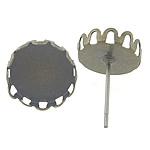 Vath bronzi Post, Tunxh, Ngjyra antike bronz i praruar, asnjë, , nikel çojë \x26amp; kadmium falas, 13x13x3mm,  12.5x12.5mm, 500PC/Qese,  Qese