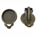 Clip tunxh Në Vath Finding, Ngjyra antike bronz i praruar, asnjë, , nikel çojë \x26amp; kadmium falas, 14x14x2mm, 12x12mm, 150Çiftet/Qese,  Qese