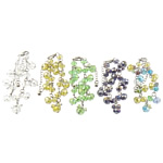 Bracelets Crystal, Kristal, with Hekur, Rondelle, colorful kromuar, faceted, ngjyra të përziera, 8x10mm, 6x8mm, : 6Inç, 30Fillesat/Qese,  Qese