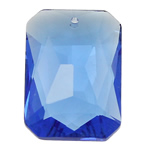 Swarovski Crystal Pendants, Drejtkëndësh, Safir, 23x33x10.50mm, : 2mm,  PC