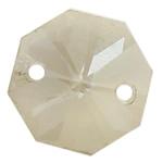 Swarovski Crystal Connector, Shumëkëndësh, Greige, 14x14x8mm, : 2mm,  PC
