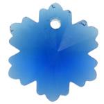 Swarovski Crystal Pendants, Lule, Safir, 14x12.50x8mm, : 1mm,  PC