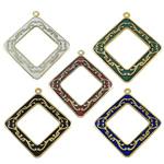 Pendants Cloisonne, Diamant, i përzier, 40x36.50x2mm, : 1.5mm, 20PC/Qese,  Qese