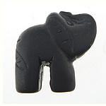 Beads Black Stone, Kafshë, natyror, 32x32x16.50mm, : 2mm, 5PC/Qese,  Qese