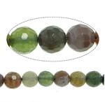 Manik-manik batu akik India alami, Putaran, tidak ada, segi, 12mm, : 1.4mm, : 15Inci, 5Helai/Banyak,  Banyak
