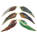 Pendants Cloisonne, Shape Wing, i përzier, 46x14.50x3.50mm, : 1mm, 20PC/Qese,  Qese