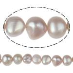 Barok Beads kulturuar Pearl ujërave të ëmbla, Pearl kulturuar ujërave të ëmbla, vjollcë, AA, 9-10mm, : 1mm, :15.5Inç,  15.5Inç,