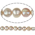 Barok Beads kulturuar Pearl ujërave të ëmbla, Pearl kulturuar ujërave të ëmbla, vjollcë, Një, 9-10mm, : 1mm, :15Inç,  15Inç,