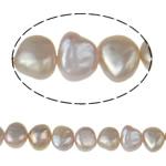 Barok Beads kulturuar Pearl ujërave të ëmbla, Pearl kulturuar ujërave të ëmbla, vjollcë, Një, 7-8mm, : 1mm, :15Inç,  15Inç,