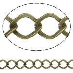 Stainless Steel Eyepins, Hekur, Romb, Ngjyra antike bronz i praruar, asnjë, , nikel çojë \x26amp; kadmium falas, 11x9x1.60mm, :25m,  PC