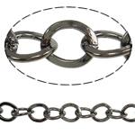 Zinxhiri Iron Oval, Hekur, plumbit ngjyrë të zezë praruar, asnjë, , nikel çojë \x26amp; kadmium falas, 9x7.50x1.60mm, :25m,  PC