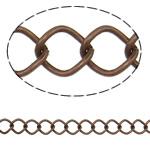Stainless Steel Eyepins, Hekur, Romb, ngjyrë bakri të praruar antike, asnjë, , nikel çojë \x26amp; kadmium falas, 8x10.20x1.40mm, :25m,  PC