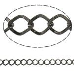 Stainless Steel Eyepins, Hekur, Romb, plumbit ngjyrë të zezë praruar, asnjë, , nikel çojë \x26amp; kadmium falas, 9.20x10.90x1.60mm, :25m,  PC