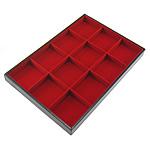 Byzylyk lëkure Display, Lëkurë, with Velveteen & Dru, Drejtkëndësh, asnjë, asnjë, i kuq, 24x35cm, 3cm, 10PC/Shumë,  Shumë
