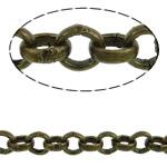 Hekuri Zinxhiri Rolo, Ngjyra antike bronz i praruar, asnjë, , nikel çojë \x26amp; kadmium falas, 2.50x0.80mm, :100m,  PC