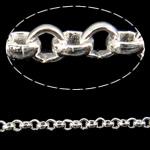 Hekuri Zinxhiri Rolo, Ngjyra argjend praruar, asnjë, , nikel çojë \x26amp; kadmium falas, 2x0.70mm, :100m,  PC