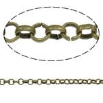 Hekuri Zinxhiri Rolo, Ngjyra antike bronz i praruar, asnjë, , nikel çojë \x26amp; kadmium falas, 3.20x1mm, :100m,  PC
