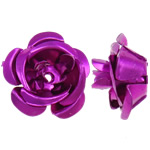 Beads bizhuteri alumini, Lule, pikturë, Pink fuchsia, 15x15x9mm, : 1.5mm, 950PC/Qese,  Qese