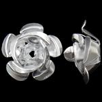 Beads bizhuteri alumini, Lule, pikturë, argjend, 15x15x9mm, : 1.5mm, 950PC/Qese,  Qese