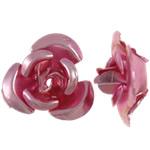 Aluminium-Lackschnitzerei, Aluminium, Blume, Spritzlackierung, Rosa, 8x8.50x5mm, Bohrung:ca. 1.1mm, 950PCs/Tasche, verkauft von Tasche