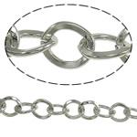 Zinxhiri Iron Oval, Hekur, ngjyrë platin praruar, asnjë, , nikel çojë \x26amp; kadmium falas, 7.40x8.80x1.60mm, :25m,  PC