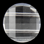 Swarovski Crystal Beads, Monedhë, Kristal, 18x18x8mm, : 1.5mm,  PC