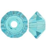 Swarovski Crystal Beads, Bicone, Indicolite, 3.50x6mm, : 1mm, 50PC/Qese,  Qese