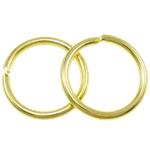 Iron Mbyllur Ring Jump, Hekur, Petull e ëmbël në formë gjevreku, ngjyrë ari praruar, asnjë, , nikel çojë \x26amp; kadmium falas, 1.20x12mm, : 9.5mm, 3330PC/Qese,  Qese