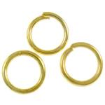Iron Mbyllur Ring Jump, Hekur, Petull e ëmbël në formë gjevreku, ngjyrë ari praruar, asnjë, , nikel çojë \x26amp; kadmium falas, 0.70x5mm, : 4mm, 23255PC/Qese,  Qese