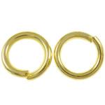 Iron Mbyllur Ring Jump, Hekur, Petull e ëmbël në formë gjevreku, ngjyrë ari praruar, asnjë, , nikel çojë \x26amp; kadmium falas, 1x6mm, : 4mm, 11110PC/Qese,  Qese