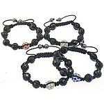 Crystal Shamballa Bracelets, Kristal, 12mm, 8mm, : 11Inç, 20Fillesat/Shumë,  Shumë