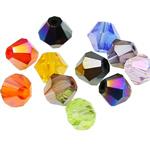 Swarovski Crystal Beads, Bicone, ngjyra të përziera, 5mm, : 1mm, 50PC/Qese,  Qese