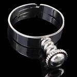 Brass Ring Finger European Setting, Tunxh, Shape Tjera, ngjyrë platin praruar, asnjë, asnjë, , nikel çojë \x26amp; kadmium falas, 20x5mm, 4mm, 18mm, :8, 50PC/Qese,  Qese
