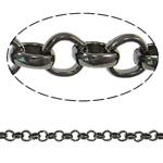 Hekuri Zinxhiri Rolo, plumbit ngjyrë të zezë praruar, asnjë, , nikel çojë \x26amp; kadmium falas, 4.80x1.50mm, :50m,  PC
