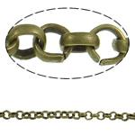 Hekuri Zinxhiri Rolo, Ngjyra antike bronz i praruar, asnjë, , nikel çojë \x26amp; kadmium falas, 4.80x1.50mm, :50m,  PC