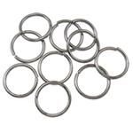 Iron Mbyllur Ring Jump, Hekur, Petull e ëmbël në formë gjevreku, plumbit ngjyrë të zezë praruar, asnjë, , nikel çojë \x26amp; kadmium falas, 0.90x9mm, : 7.5mm, 7350PC/Qese,  Qese
